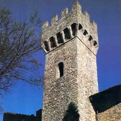 Barberino di Mugello: The beautiful tower of the Cattani castle