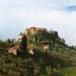 Rufina: The Castiglioni castle dominates the valley