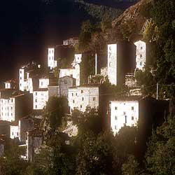 The village of Lucchio in the Mountains between Pistoia and Lucca