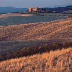 Sunset in the Crete Senesi