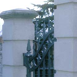 Art and crafts. A wrought iron gate