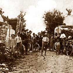 Vicchio: People after the 1919 earthquake