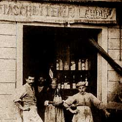 The shops of last century.The wine store