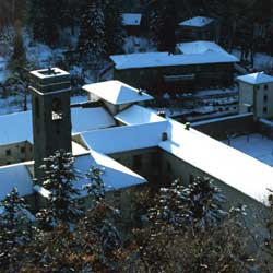 The Vallombrosa abbey under the snow