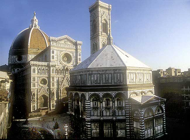 Firenze: View of the Duomo and the Baptistery