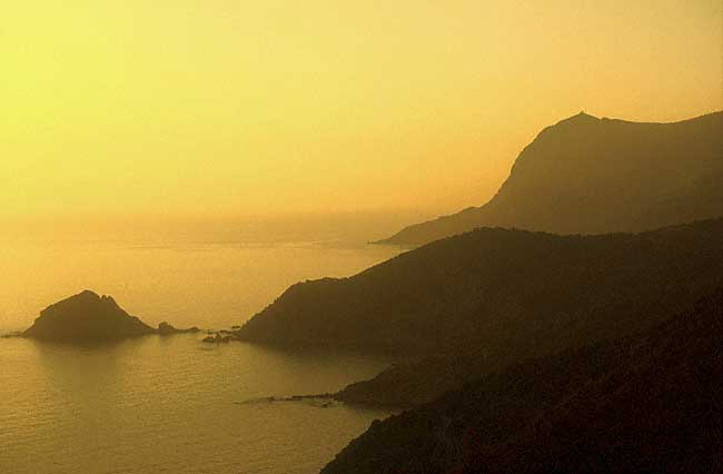 Argentario The coast in the twilight