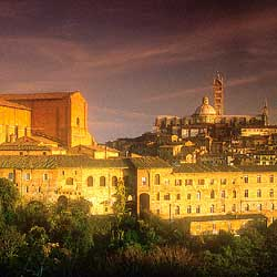 Siena: View of San Domenico and the Duomo